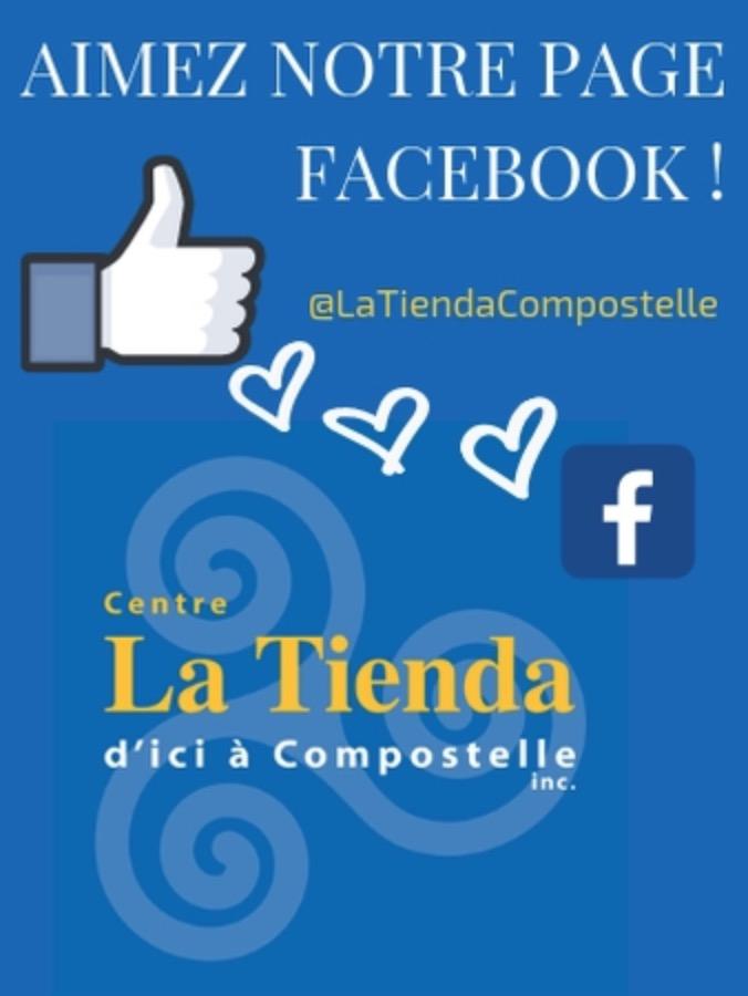 Aimez la page FB Tienda Compostelle